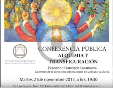Conferencia: Alquimia y Transfiguración (in Spagnolo)