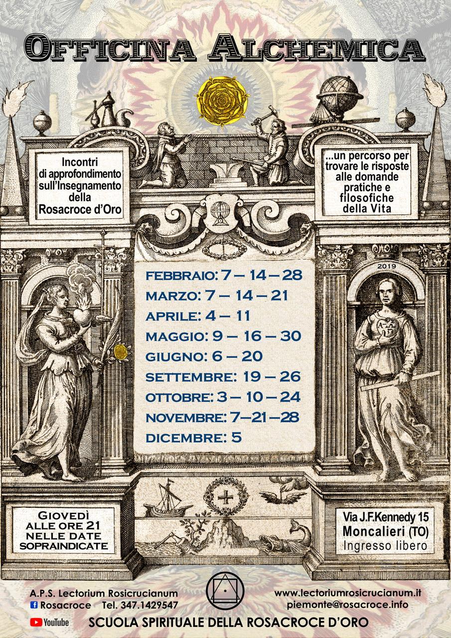 """Officina Alchemica"" presso Lectorium Rosicrucianum Moncalieri (TO)."